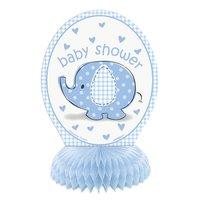 Bordsdekorationer - Baby shower blå 4 st