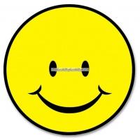 Smiley face cutout 33cm