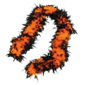 Fjäderboa - Orange/svart