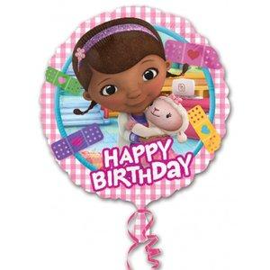 Folieballong - Doc McStuffins Happy Bday 45 cm