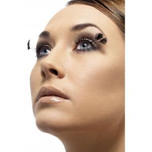 Ögonfransar - svarta med hörnplymer