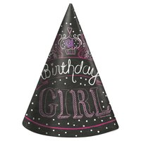 Partyhattar - Birthday girl 8 st