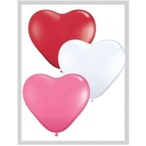 Alla hjärtans dag ballonger - 15 cm latex - 100 st