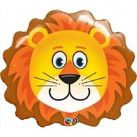 Sympatiskt lejon folieballong för barnen - 74 cm