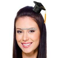 Liten svart examenshatt hårklämma