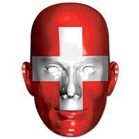 Ansiktsmask schweisiska flaggan