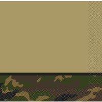 Kaffeservetter med militär camo 16 st