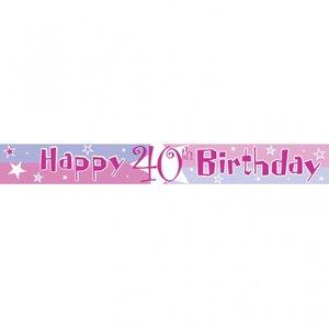 40-års födelsedag banderoll - 3.65m