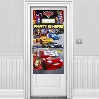 Disney bilar neon banderoll - 1,5m Disney bilar dörrbanderoll