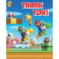 Super Mario brödrar tackkort - 6 st