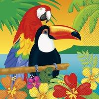 Servetter med papegojor 16 st