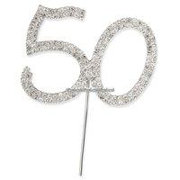 50-års tårtdekoration med diamanter