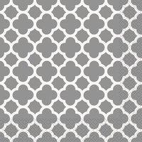 Quatrefoil servetter - Silver 16 st