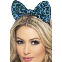 Leopard hårband - blå
