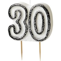 30-års födelsedagsljus - svart