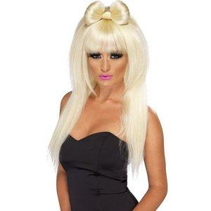 Peruk popstjärna blond