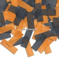 Pinatakonfetti - orange & svarta
