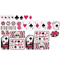 Casino cutout dekorationer - 30 st