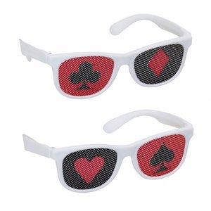 Casino glasögon med tryck på glasen