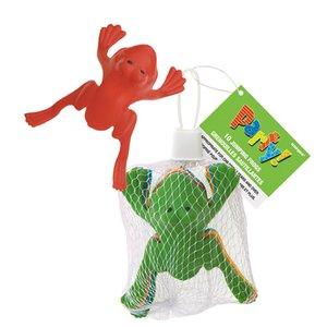 Hoppande grodor leksak - 10 st