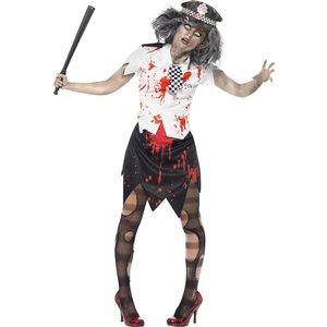 Zombie poliskvinna maskeraddräkt