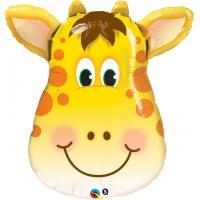 Girafformad flerfärgad folieballong - 81 cm