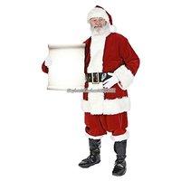Jultomte med liten skylt pappfigur 180 cm hög