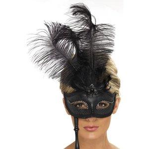 Ögonmask svart barock fantasy