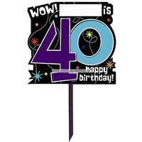 Trädgårdsskylt till 40-årsdagen - The party continues