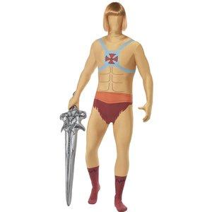 Second skin-dräkt, He-Man maskeraddräkt