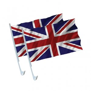 Brittiska bilflaggor 42cm - 2 st