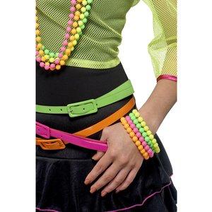 Pärlarmband, neon, blandade färger