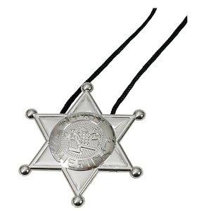 Halsband med sheriff märke