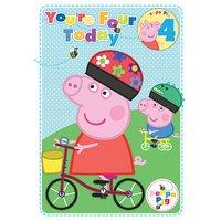 Greta gris 4-års födelsedagskort