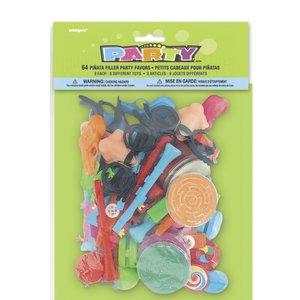 Pinatas tillbehör (64 st, storpack leksaker)