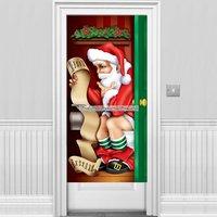 Jultomten på toalettdörrsöverdrag