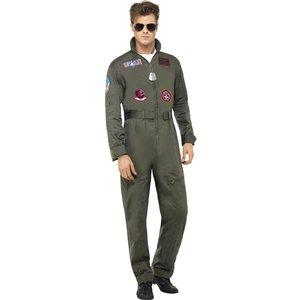 Top Gun överdel manlig maskeraddräkt