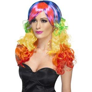 Regnbåge peruk - Flerfärgad