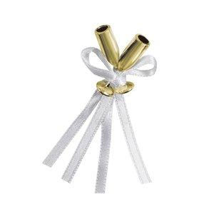 Mini champagne flöjtar guldiga - Bröllopsdekoration 12 st