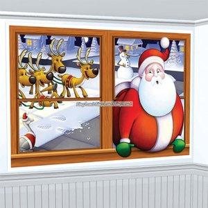 Jultomten som väggdekoration - 0,96 x 1,57 m