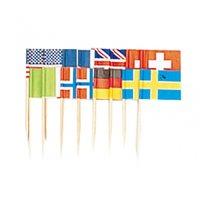 Internationella flagg dekorationer 7cm - 50 st