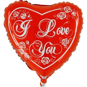 Folieballong - I Love You 45 cm