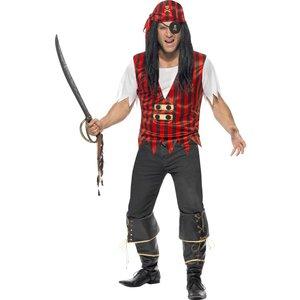 Pirat maskeraddräkt set - Medium