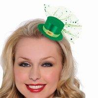 St Patrick´s day - Leprechaun mini hatt hårklämma