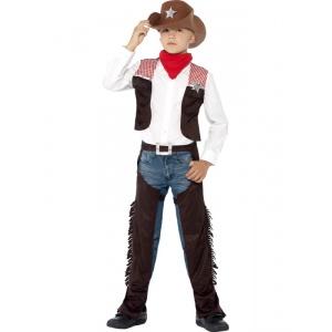 Deluxe Cowboy barn maskeraddräkt