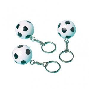 Nyckelrinar med fotbollar - 12 st