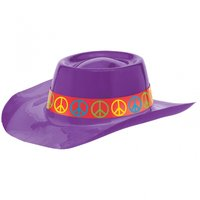 60-tals Feeling Groovy Cowboyhatt - Lila