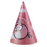Angry birds rosa partyhattar - 6 st