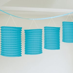Girlang med blå lyktor - 3.65m