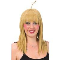 Blond peruk med tofs
